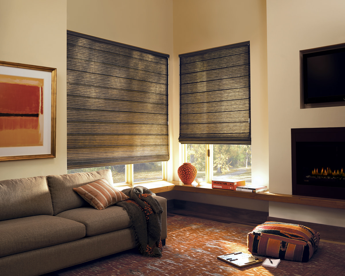 Vignette Roman Shades - Custom Blind & Carpet Inc.